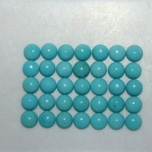 Blue Turquoise 4mm & 5mm Round Cabochon Loose Gemstones w/ Multi-Qty Opt... - $5.58+
