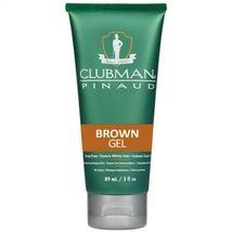 Clubman Pinaud Temporary Color Gel,  Brown  3 oz