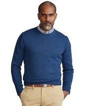 Polo Ralph Lauren FEDERAL BLUE HEATHER Cotton Crewneck Sweater, US Large - $61.88
