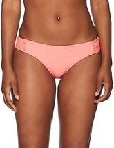 Sunsets BRIGHT GUAVA Femme Fatal Shirred Side Bikini Bottom Swimsuit, US M - $28.22