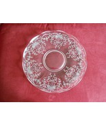 "Fostoria Glass Platter Tray ""Corsage"" Depression Glass Etched Flower Bou... - $28.50"