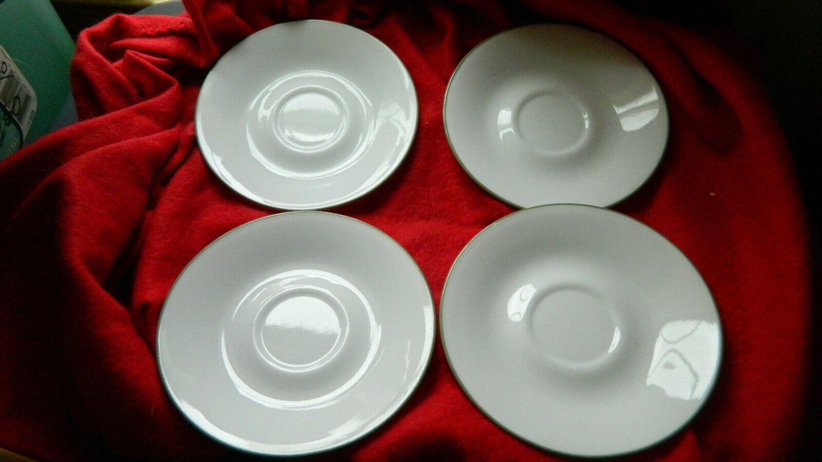 Primary image for CORELLE CORNING SUMMER BLUSH SAUCERS LOT OF 4 FREE USA SHIP