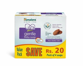 Himalaya Gentle Baby Soap Value Pack, 4*75g - $14.91