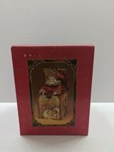 "Enesco ""St. Nicholas "" circa 1910"" Vintage Musical Jack in the box -1985 NIB - $64.34"
