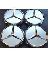 4 pcs, Wheel Center Hub Cap 75 MM Silver Matte, Mercedes Benz Fit: CLS S... - $19.99