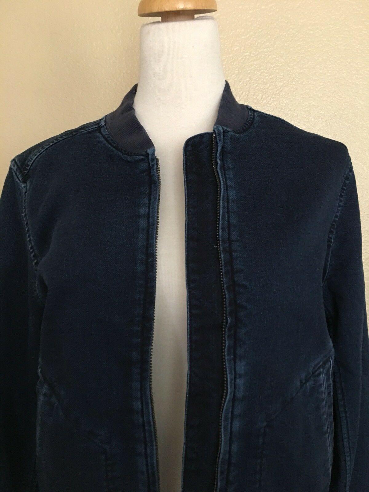 NWT Calvin Klein Knit Indigo Bomber Jacket, Size Medium, $178