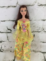 Disney Beauty & The Beast Belle Barbie Doll Yellow Dress - $11.88