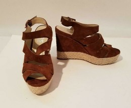 Michael Kors Women's Leather Wedge Sandals Sz 9.5M - $23.09