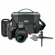 Nikon D3500 24.2MP DX DSLR Kit w/ 18-55mm & 70-300mm Lenses New Open Box - $459.62