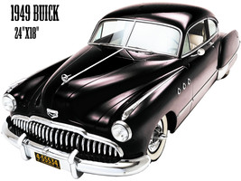 1949 Buick Reproduction Laser Cut Out Of Metal 18x24 - $46.53