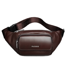 Men Waist Packs Genuine Leather Waist Bags Cest Pack - $58.90