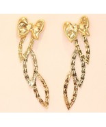 14K GOLD TRI COLOR EARRING #55 - $127.71