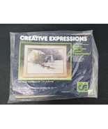 "Crewel Creative Expressions Embroidery Kit 1042 Winter Waterwheel 20"" x ... - $18.65"