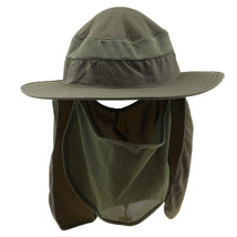 9455bce30f6 Outdoor Jungle Fishing Full Face Neck Protection Sun Hat Flap Cap Army G..