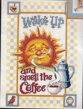 Sun Counted Cross Stitch Kit SMELL THE COFFEE Anthropomorphic Reinardy J... - $17.39