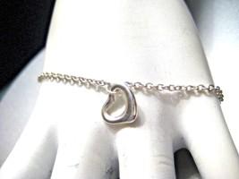 Tiffany & Co Elsa Peretti Open Heart Bracelet Sterling Silver 925 - $116.10