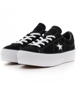 Converse Womens One Star Platform Ox Suede 563869C Black/White Multi Sizes - £40.48 GBP