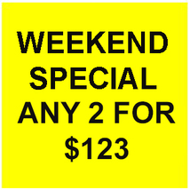 FRI-SUN FLASH SALE! PICK ANY 2 FOR $123  BEST OFFERS DISCOUNT  - $123.00