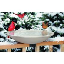 Allied Precision Beige Heated Bird Bath With Ex-tilt Deck Mount 20 Inch/... - £79.40 GBP