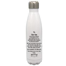 Custom 17oz Water Bottle To Our Son Graduation,Birthday, Wedding, Christ... - $34.95
