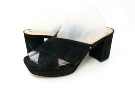 Sam Edelman Womens 9 M Jayne Slides Sandals Black Cross Strap Studded Slip On - $27.99