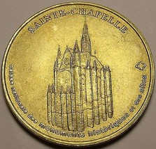 34mm Gem Unc Sainte Chapelle Medallion~The Home of the Kings of France~Free Ship - $8.70