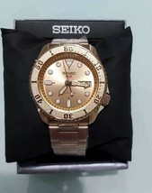 Seiko 5 Automatic Rose Gold-Tone SRPE72J8 (WARRANTY & FEDEX 2 DAY) - $272.25