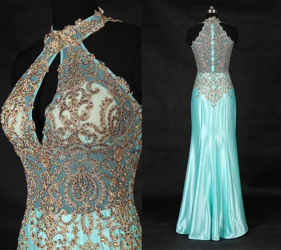 long prom dress,blue Prom Dress,charming evening gown,formal prom dresses