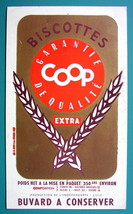 COOP Biscuits - c 1960 Ink Blotter Advertisement - $4.49