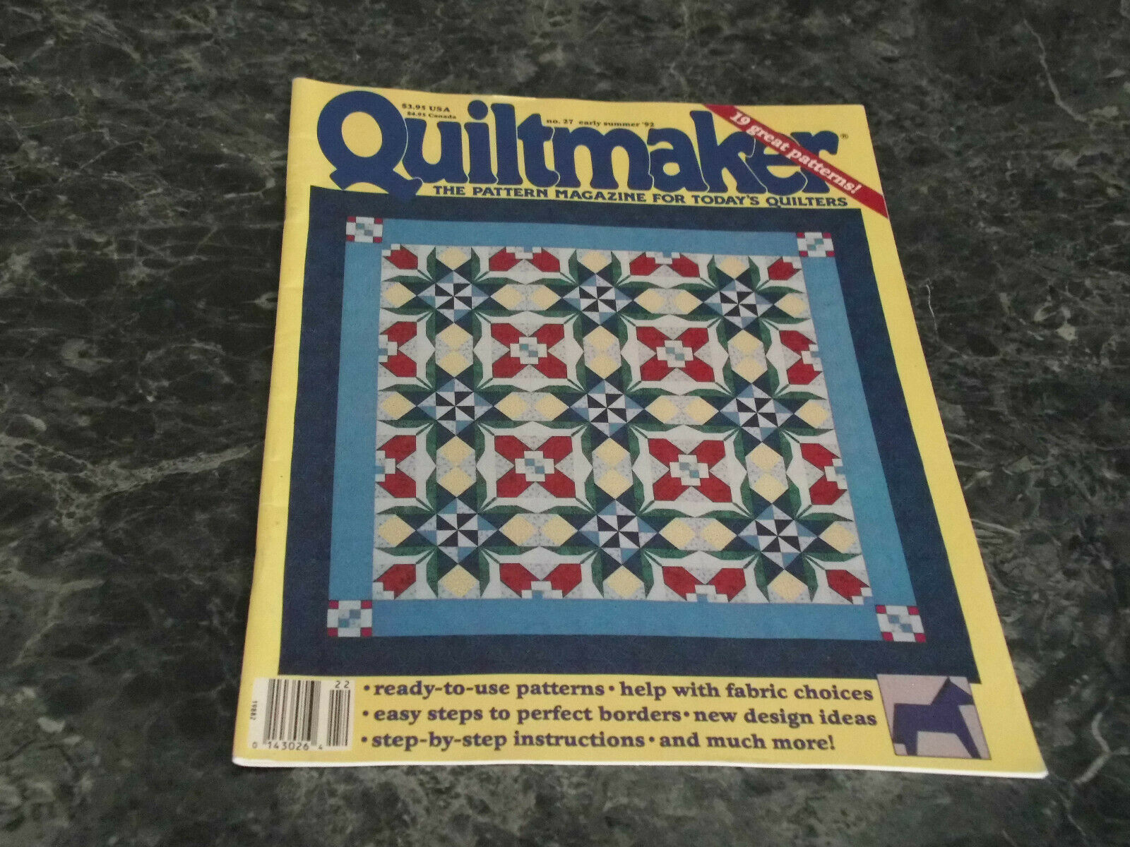 Quiltmaker Pattern Magazine for today's Quilters Early Summer 1992 No 27 Glory B - $2.99