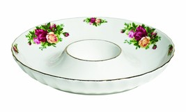 Royal Albert Old Country Roses FLUTED One Piece Chip and Dip, 12-Inch NEW  - $84.14