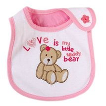 Baby Burp Cloths Infant Dribbler Nest Solutions Bibs Love Bear Set of 3