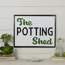 The Potting Shed Metal Sign Wall Mounted Garden Decor Wall Art Plaque - $45.95