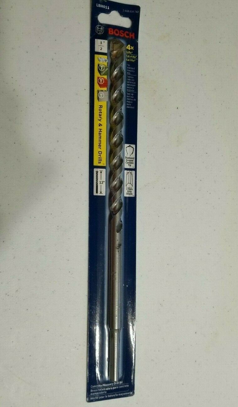 "Primary image for BOSCH LBH011 1/2"" X 12"" LONG Rotary & Hammer DRILL BIT - NEW IN PACKAGE"