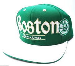 BOSTON BRUINS REEBOK NHL ST. PATRICK'S SNAPBACK FLAT BILL HOCKEY CAP HAT - €17,66 EUR