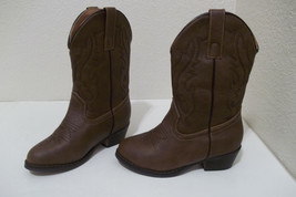 COUNTRY LOVE GIRLS BOYS BROWN WESTERN COWBOY BOOTS TODDLER SIZE 11.5 - £9.29 GBP