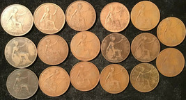 50 Great Britain Pennies 20th Century -- Mixed Coins - $29.95