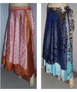 PLUS SIZE LOT OF 5  PCS WHOLESALE SKIRTS SARI MAGIC ORIGINAL MANUFACTURER - $34.30