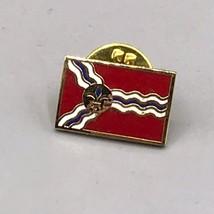 Vintage Flag Of St. Louis Pinback Pin - $4.94