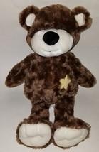 "Little Miracles Brown Teddy Bear Plush Lovey Yellow Star 15"" Stuffed Ani... - $29.65"