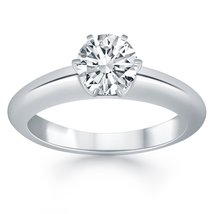 14k White Gold Solitaire Cathedral Engagement Ring - $1,942.50