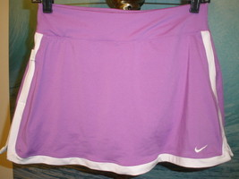 Women's Nike Dri-Fit BorderTennis Skirt/Skort Purple w/WhiteTrim Sz Small - $21.77