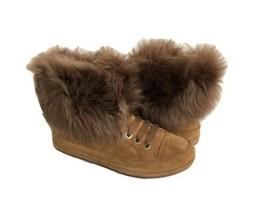 Ugg Antoine Fur Chestnut Women Sneakers Boots Us 12 / Eu 43 / Uk 10.5 Nib - $107.53