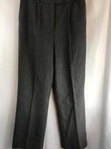 "Pendleton 100% Wool Lined Womens Gray Striped Dress Pants 29"" Waist - $29.69"