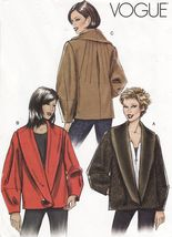 Misses Vogue Front Back Darts Lined Back Pleated Jacket Sew Pattern 18-22 - $12.99