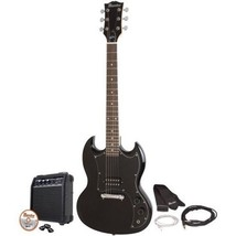 Black Electric Guitar Kit Double Cutaway Maestr... - $119.57