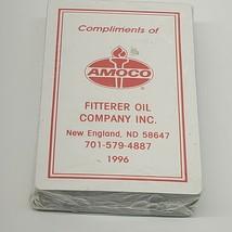 VTG NOS 1996 Amoco Playing Cards hoyle coated oil advertising new England ND (b7 - $5.94