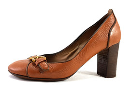 CHLOE Brown Leather Platform High Heels Pumps US Size 6.5 EU 36.5 - $170.10