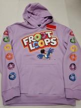 NWT Kellogg's Fruit Loops Cereal Men's Purple Hoodie Sweatshirt Medium New - $59.39