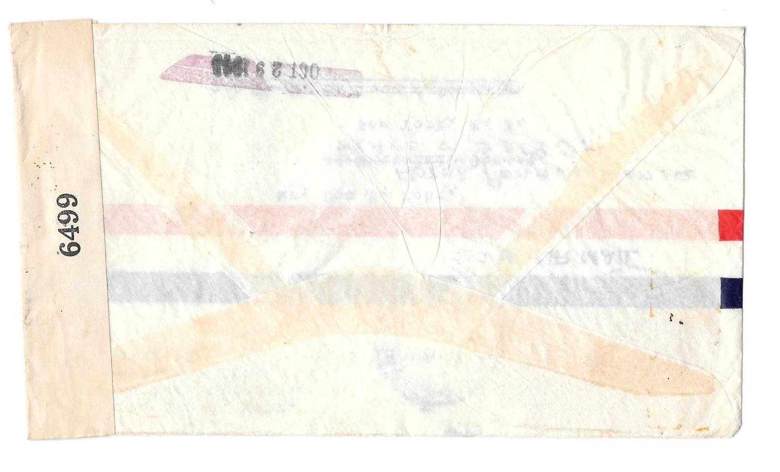 Haiti Censored 1943 Airmail Cover Sc C22 Port au Prince to US Examiner 6499